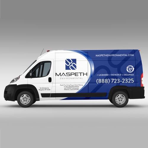 Van Design Wrap For Maspeth Environmental Emergency Vehicle Car
