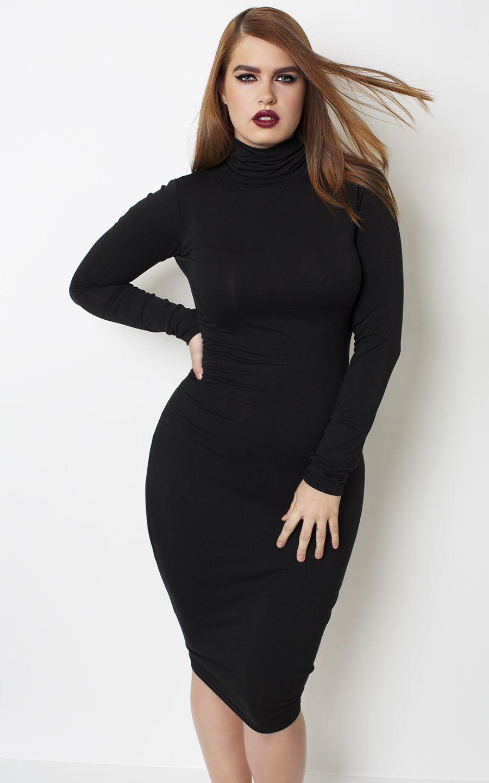 Grisel sleek turtle neck dress shop womenus missy u plus size