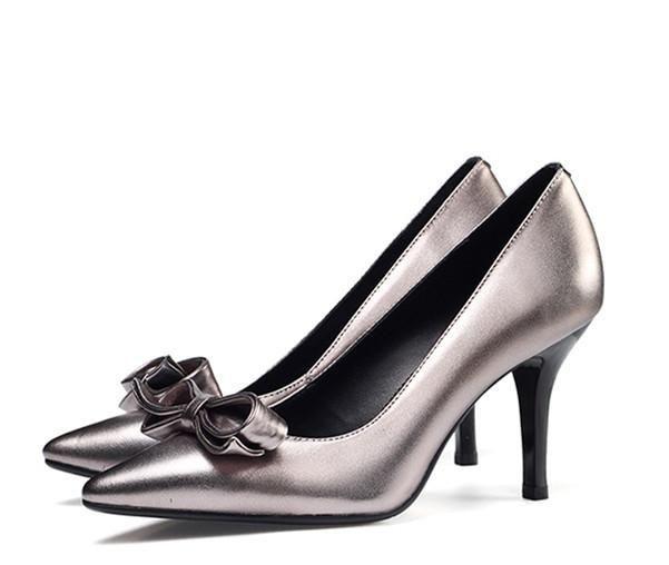 43c31f3ba37 Women s Wedding Shoes Silver Elegant Bow Stiletto Heels Bridal Shoes Pointy  Toe Stiletto Wedding Heels Fall Fashion Outfits For Women Fall Fashion  Wedding ...
