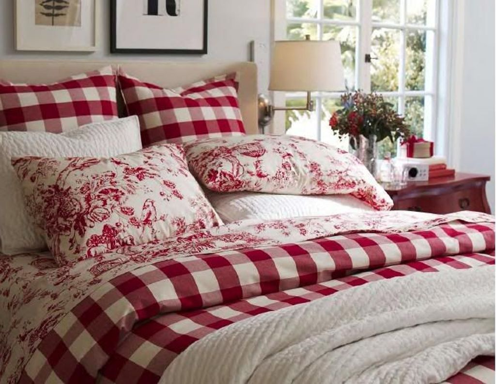 Plaid Bedding Set For French Country Bedroom Ideas With Gallery And Sets Inspirations Contemporary Wall Mounte Bedroom Red Country Bedroom Country Bedding Sets Red plaid bedroom ideas
