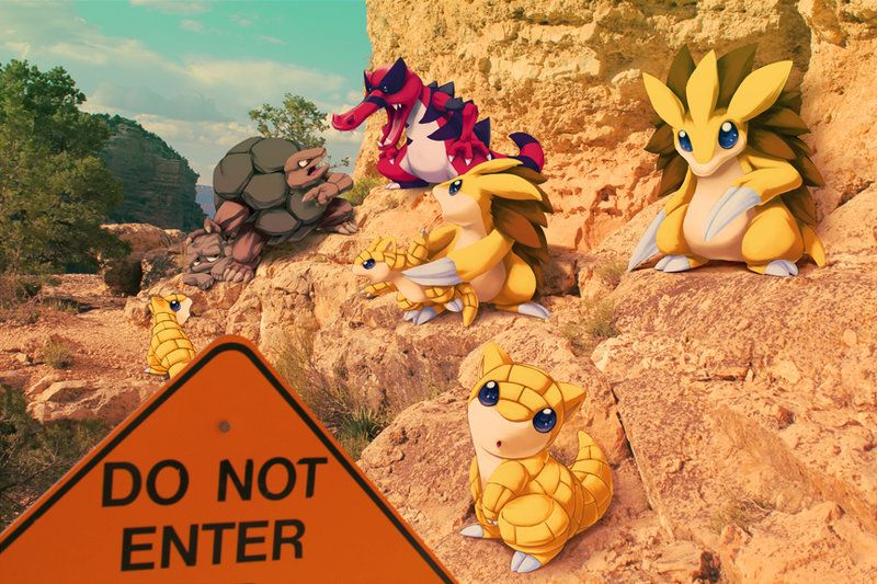 Wild Ground and Rock pokemon in Grand Canyon by Ninja-Jamal.deviantart.com on @DeviantArt