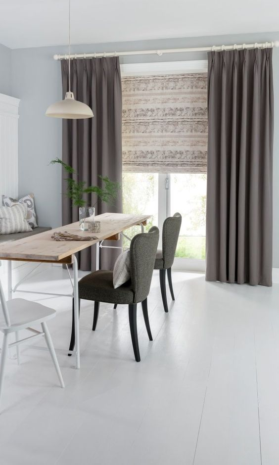 15 Scandi Rooms Nailing The Natural Wood Trend Dining Room Interiors Grey Dining Room Dining Room Curtains