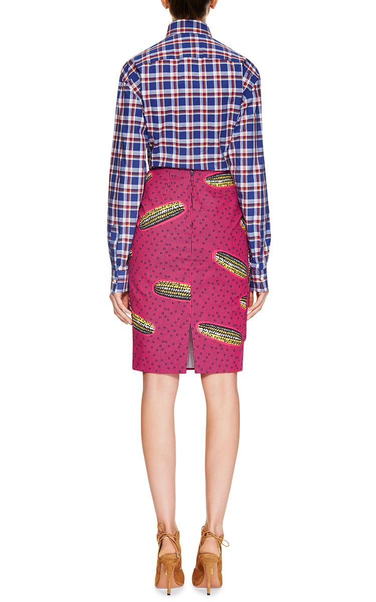 Dugongo Printed Draped Skirt by Stella Jean - Moda Operandi | 2016 ...