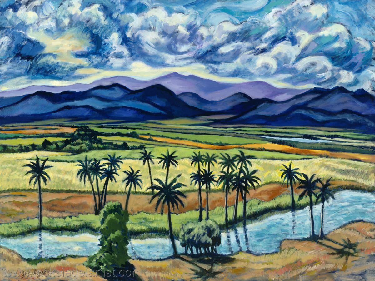 """Pintura Contemporánea - """"Valle de la contemplación"""" (Arte original de www.jacksiegelartist.com)"""