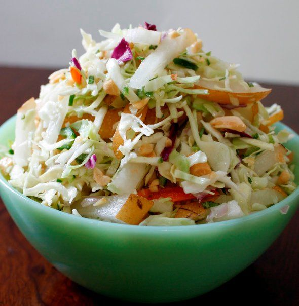Print Asian Apple Pear Slaw Ingredients Slaw Base 20 oz. shredded green cabbage 10 oz. shredded red cabbage 3 apple pears, cored and diced small 1/3 cup cilantro, chopped 1/3 cup scallions, chopped 1 tbsp. toasted sesame seeds Dressing 1/3 cup unseasoned rice vinegar 1 tsp. granulated sugar 1 tsp. toasted sesame oil 1/4 cup …