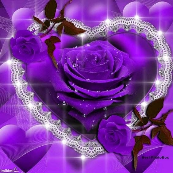 Pin By Claudia Gisel On Purple Beautiful Heart Hearts And Roses Heart Images