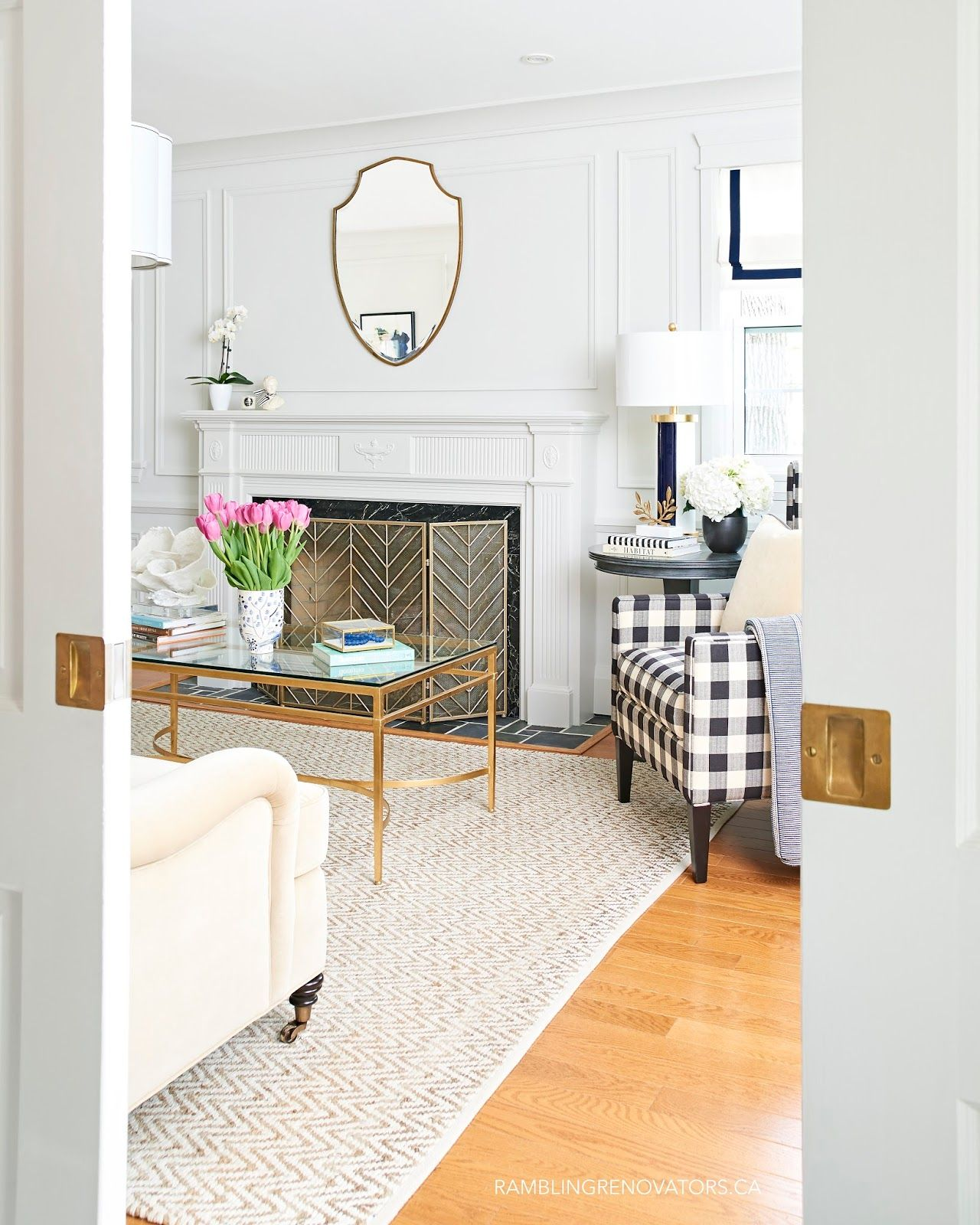 modern traditional colonial living room painted moulding buffalo