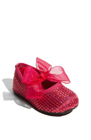 59cf0641310 Free shipping and returns on Stuart Weitzman  Baby Bling  Crib Shoe (Baby    Walker) at Nordstrom.com. Sparkly sequins and a big frilly bow add ...