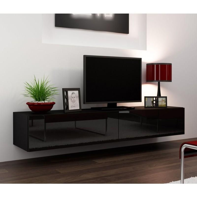 20 Inspirations Black Gloss Tv Units Tv Cabinet And Stand Ideas Floating Tv Stand Modern Tv Wall Units Living Room Tv