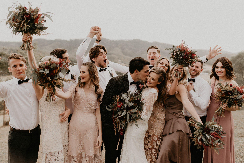 Queensland, Australia Wedding Bridal party poses