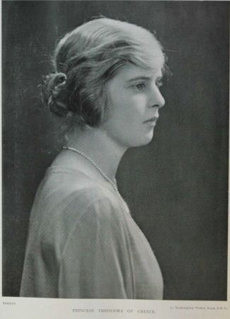 Princess Theodora of Greece and Denmark. The second child and daughter of Prince Andrew of Greece and Denmark and Princess Alice of Battenberg and sister of Prince Philip, Duke of Edinburgh. In 1931 she married Berthold, Margave of Baden.