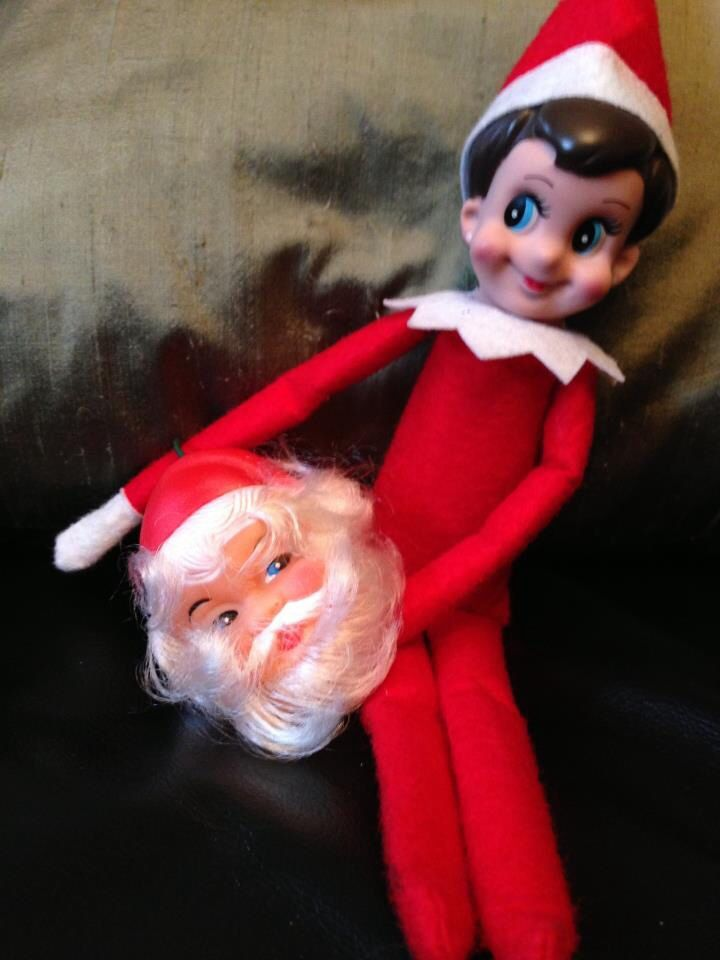 He Killed Santa Bad Elf Holiday Decor Elf On The Shelf