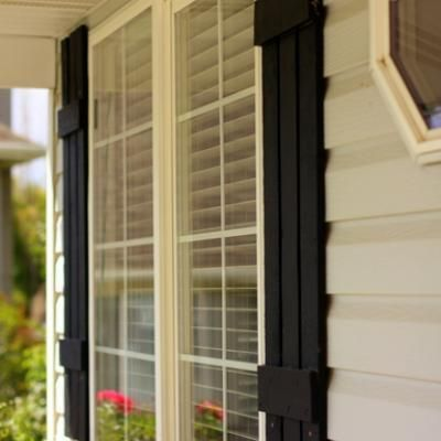 How To Make Your Own Wood Shutters Wood Working House Wood Shutters House Styles