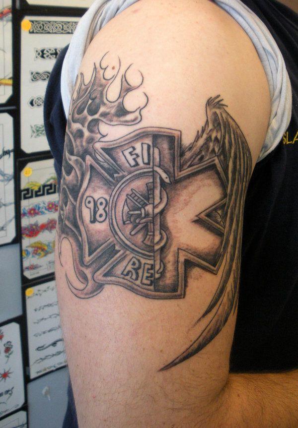 Fire Para Cross By Painlessjames On Deviantart Fire Tattoo Fire Fighter Tattoos Ems Tattoos