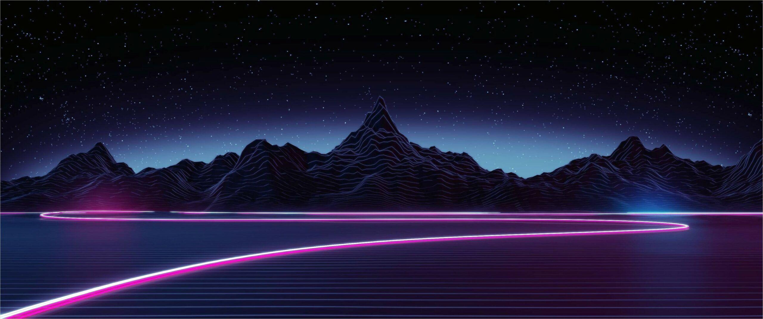 4k Aesthetic Neon Wallpaper In 2020 Mountain Wallpaper Hd Wallpaper Aesthetic Wallpapers