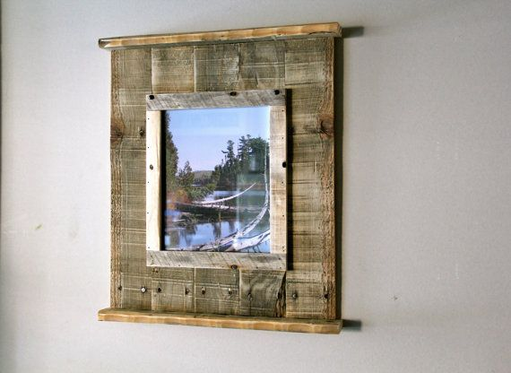 Rustic Reclaimed Pallet Wood Picture Frame Pictures