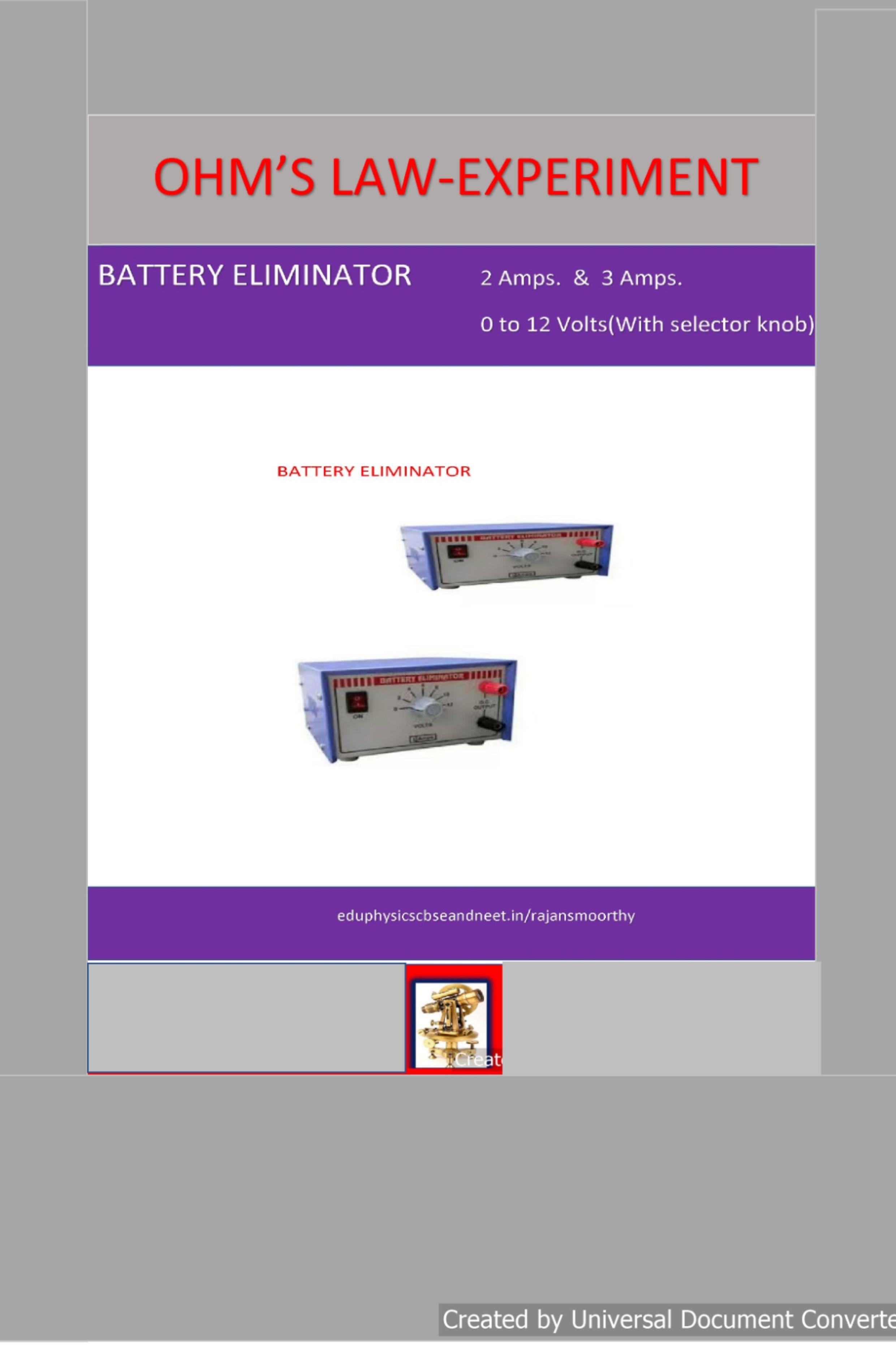 Eduphysics Electricity Ohms Law Ohms Ampere