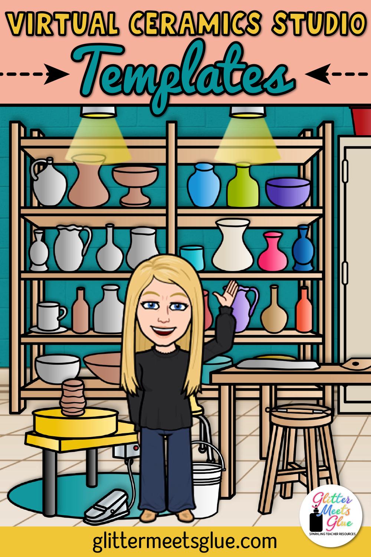 Virtual Ceramics Studio Templates Art Classroom Ceramic Studio Teaching Art