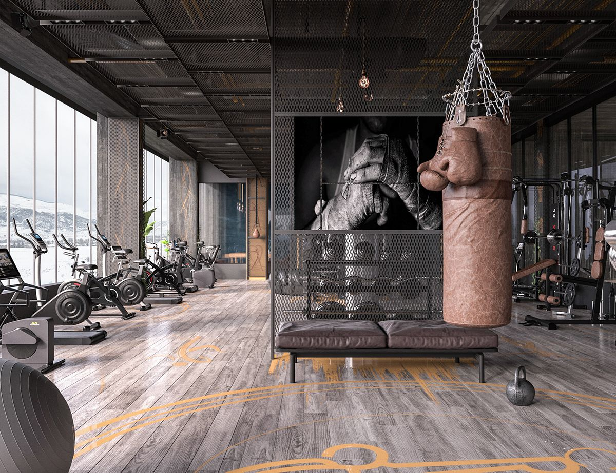 Fitness On Behance In 2020 Home Gym Design Gym Design Interior Gym Interior