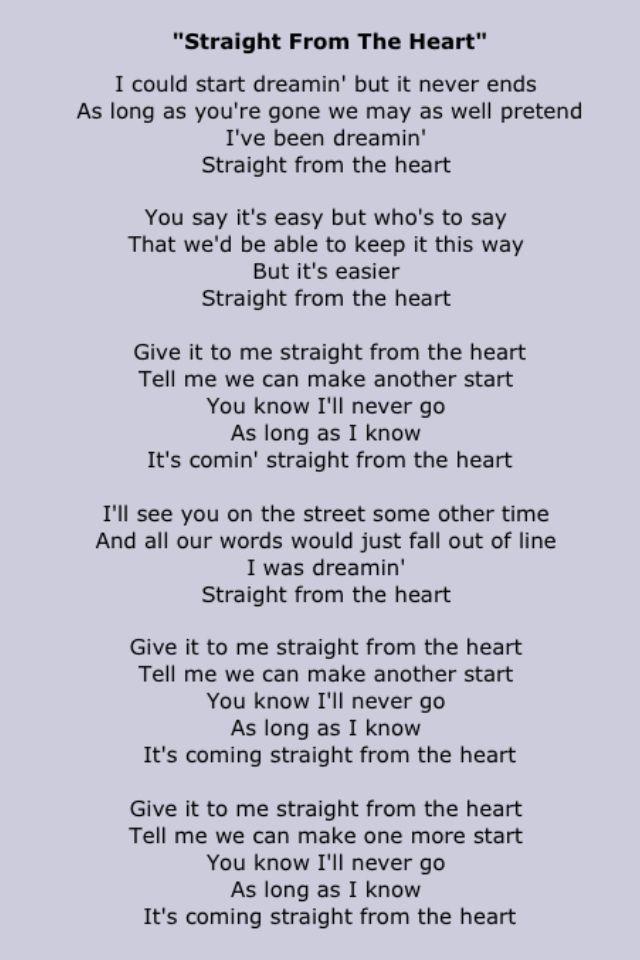Bryan Adams Great Song Lyrics Love Songs Lyrics Song Words