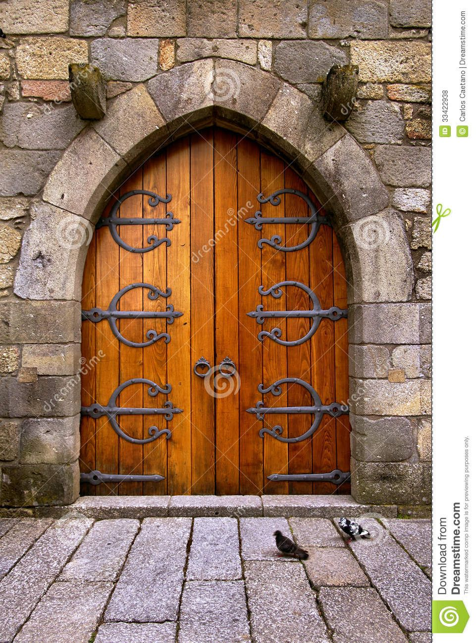 Beautiful Wooden Door | Beautiful old wooden door with iron ...
