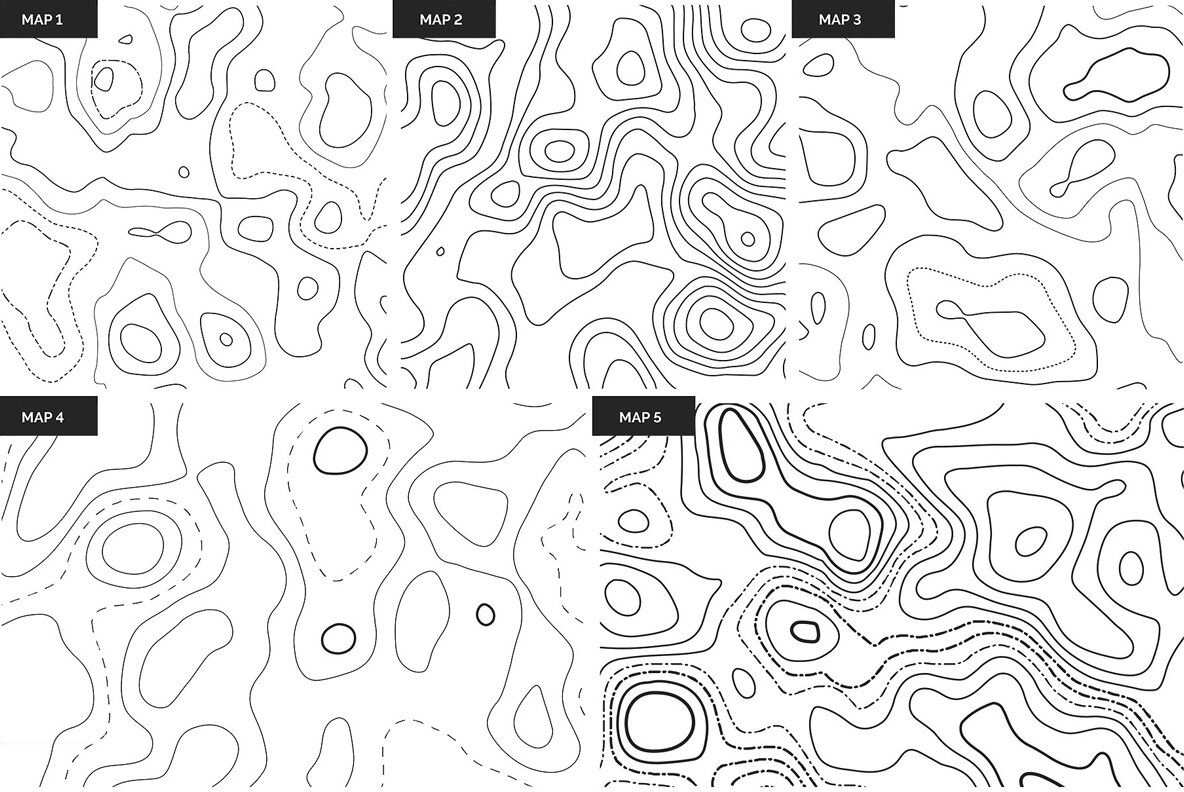Topographic Maps Patterns
