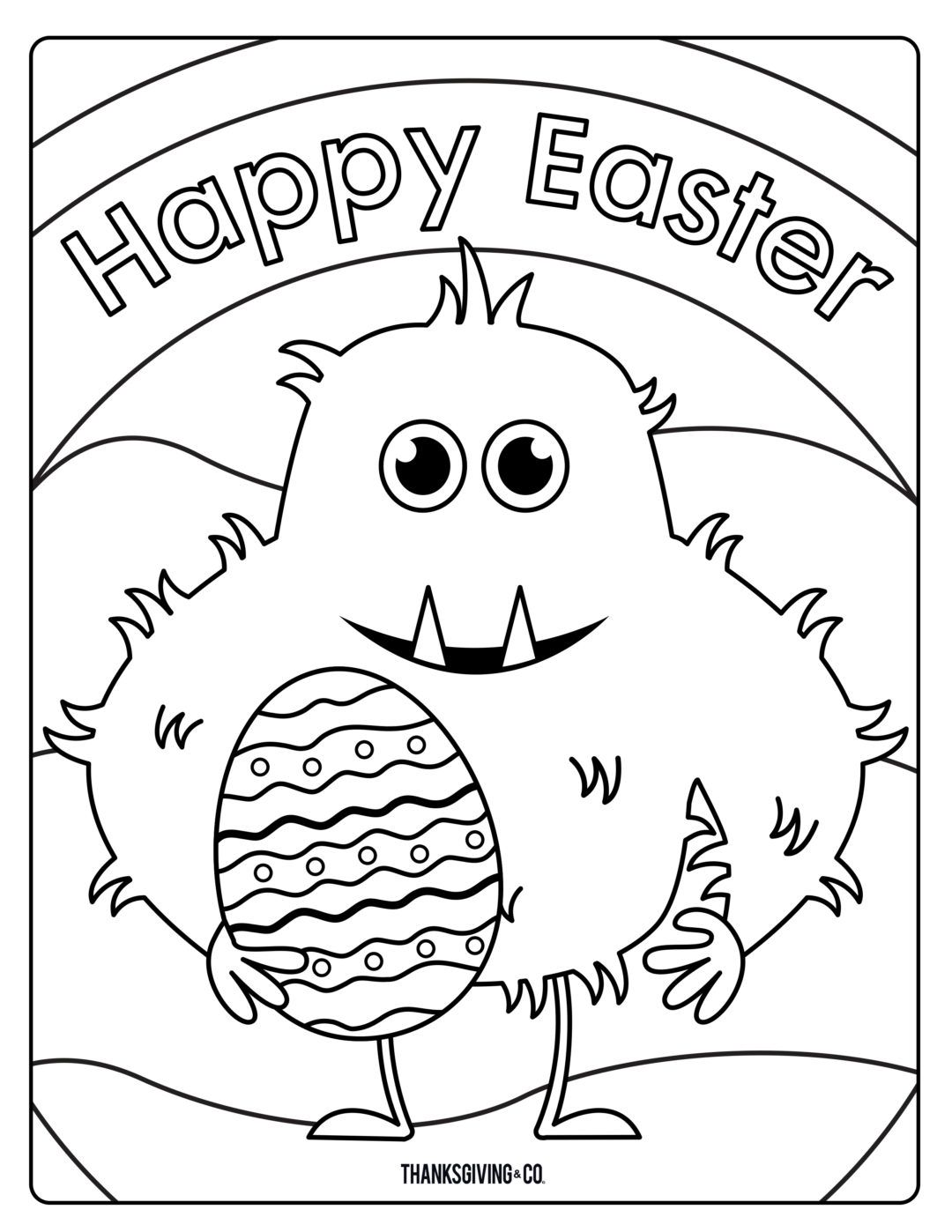 8 Free Printable Easter Coloring Pages Your Kids Will Love From Makeitgrateful Com Easter Colo Monster Coloring Pages Easter Coloring Book Easter Colouring