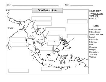 Map Of Upper Asia.Map Of Southeast Asia 2 My Classroom Teaching History Asia Map