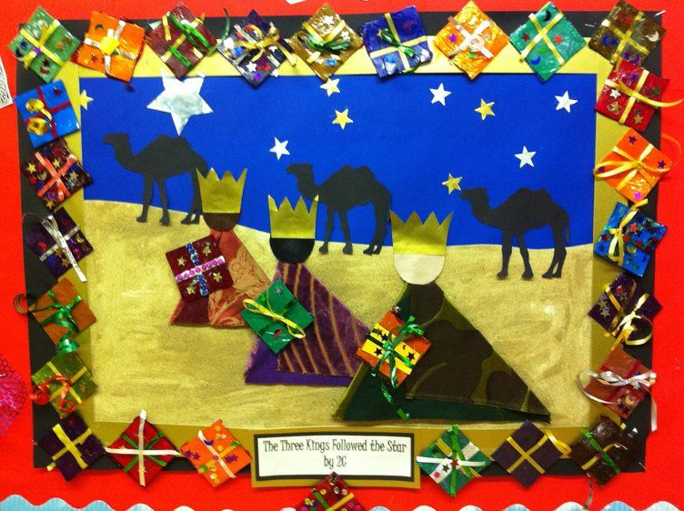Christmas The Three Kings Star Display Classroom Display Christmas Art Projects Christmas School Christmas Nativity Scene