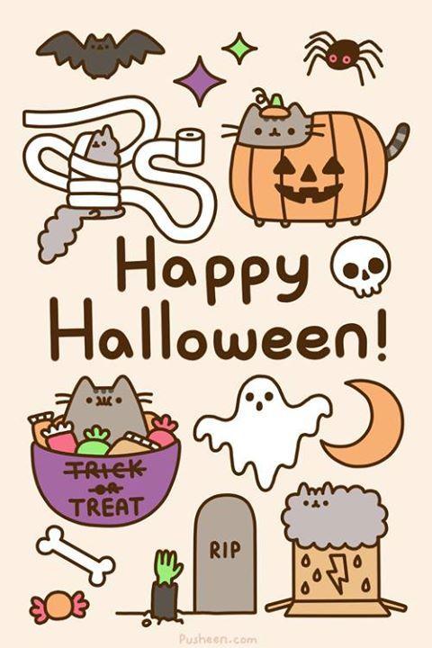 Happy Halloween Pusheen Pusheen Cat Halloween Wallpaper