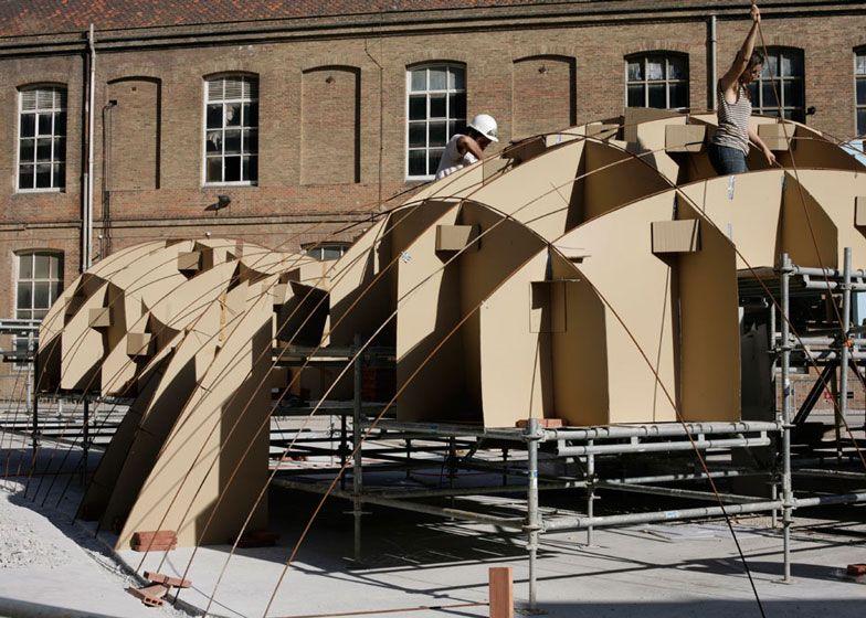 Vaulted Brick Pavilion In Barcelona By Map13 Bovedilla Ladrillo Arquitectura