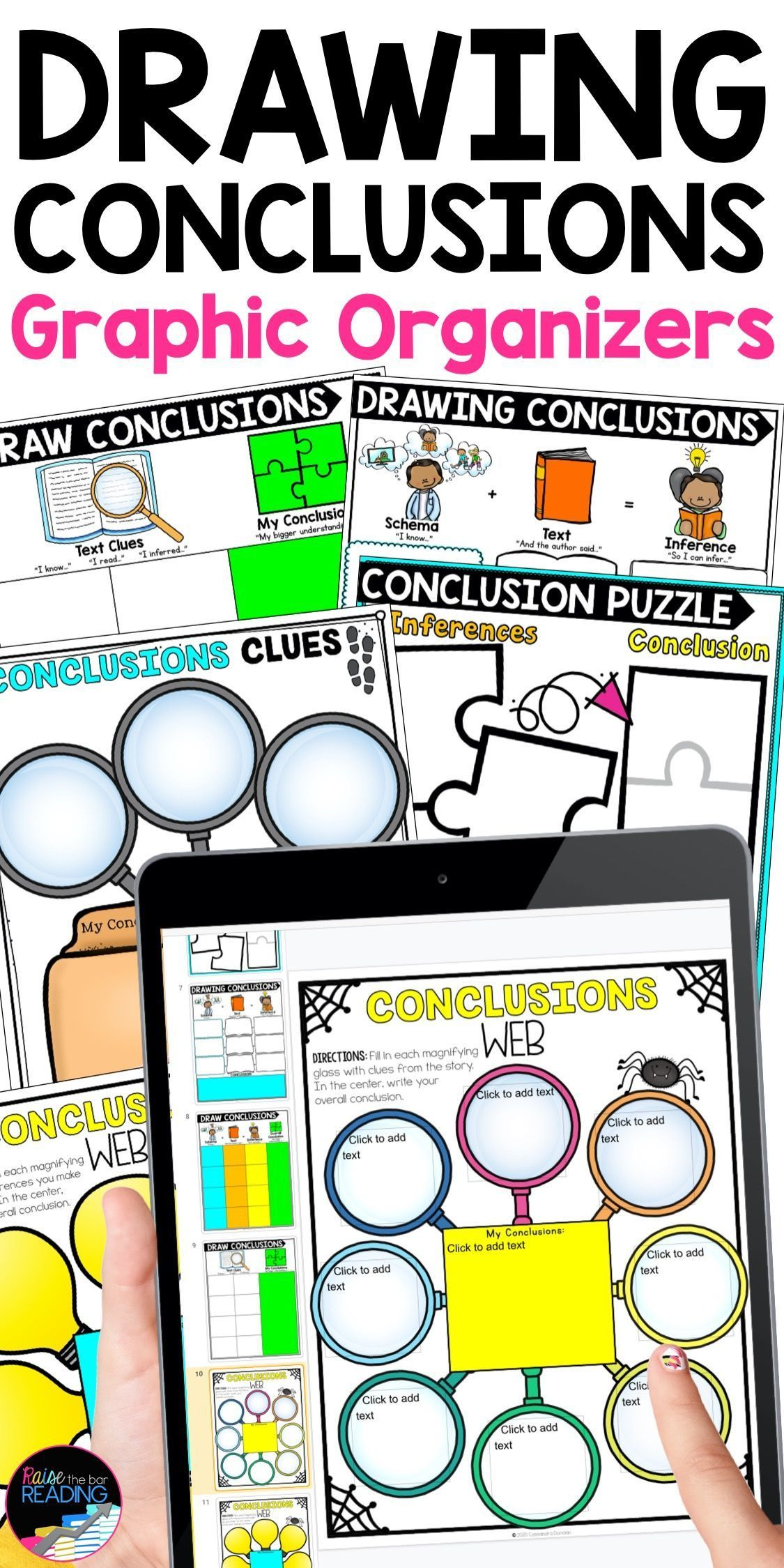 Drawing Conclusions Worksheets Paper Digital Reading Graphic Organizers Reading Graphic Organizers Graphic Organizers Drawing Conclusions [ 2249 x 1125 Pixel ]