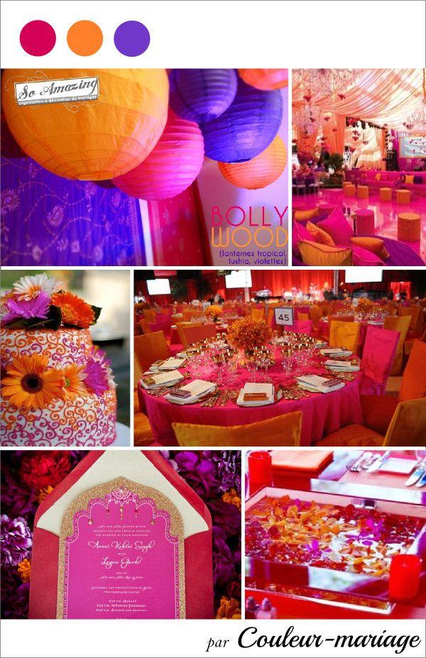 Mariage Fuchsia Orange Et Violet Images Pinterest
