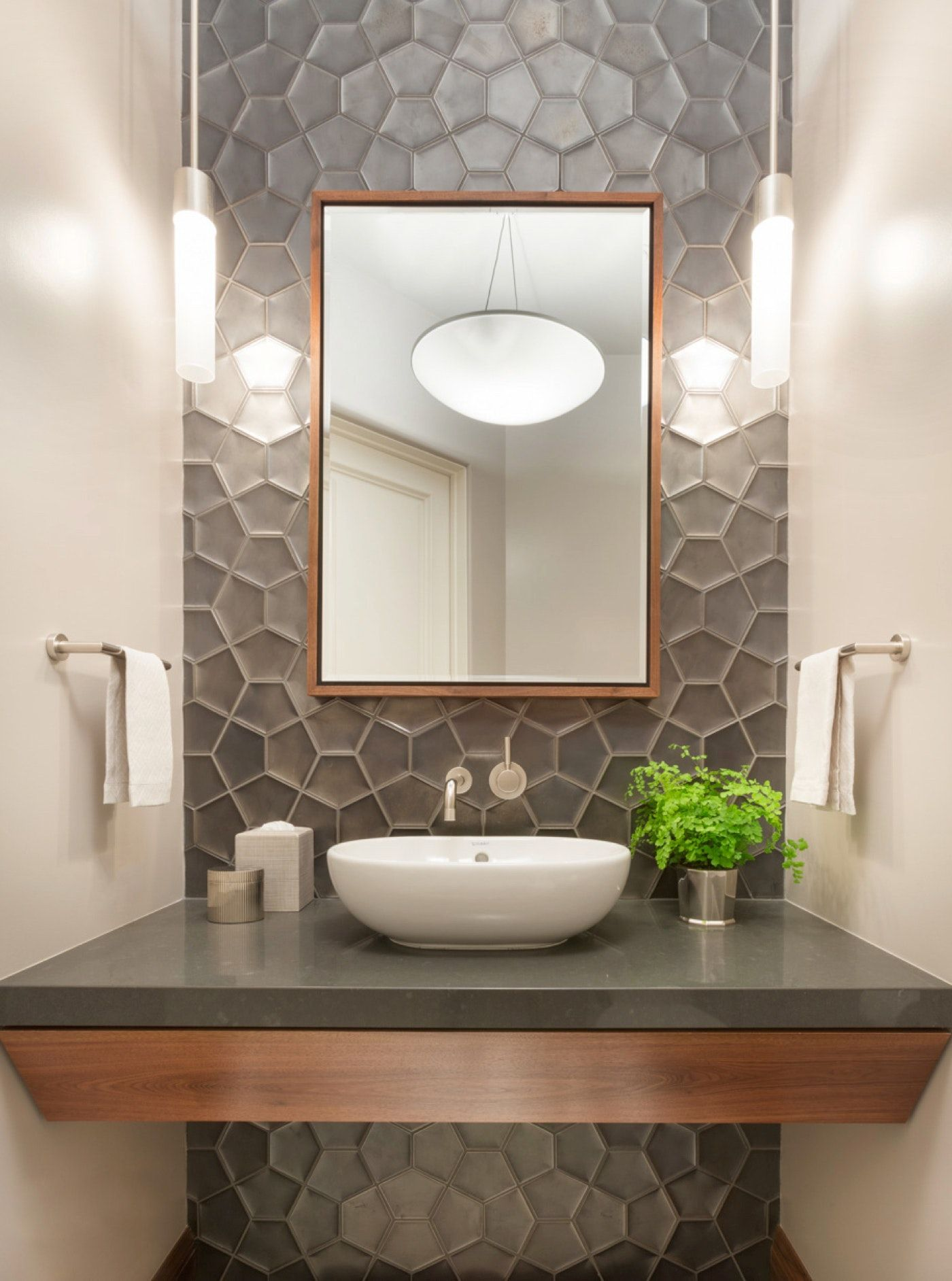 Los Altos Hills Residence Powder Room Powder Room Ideas Half