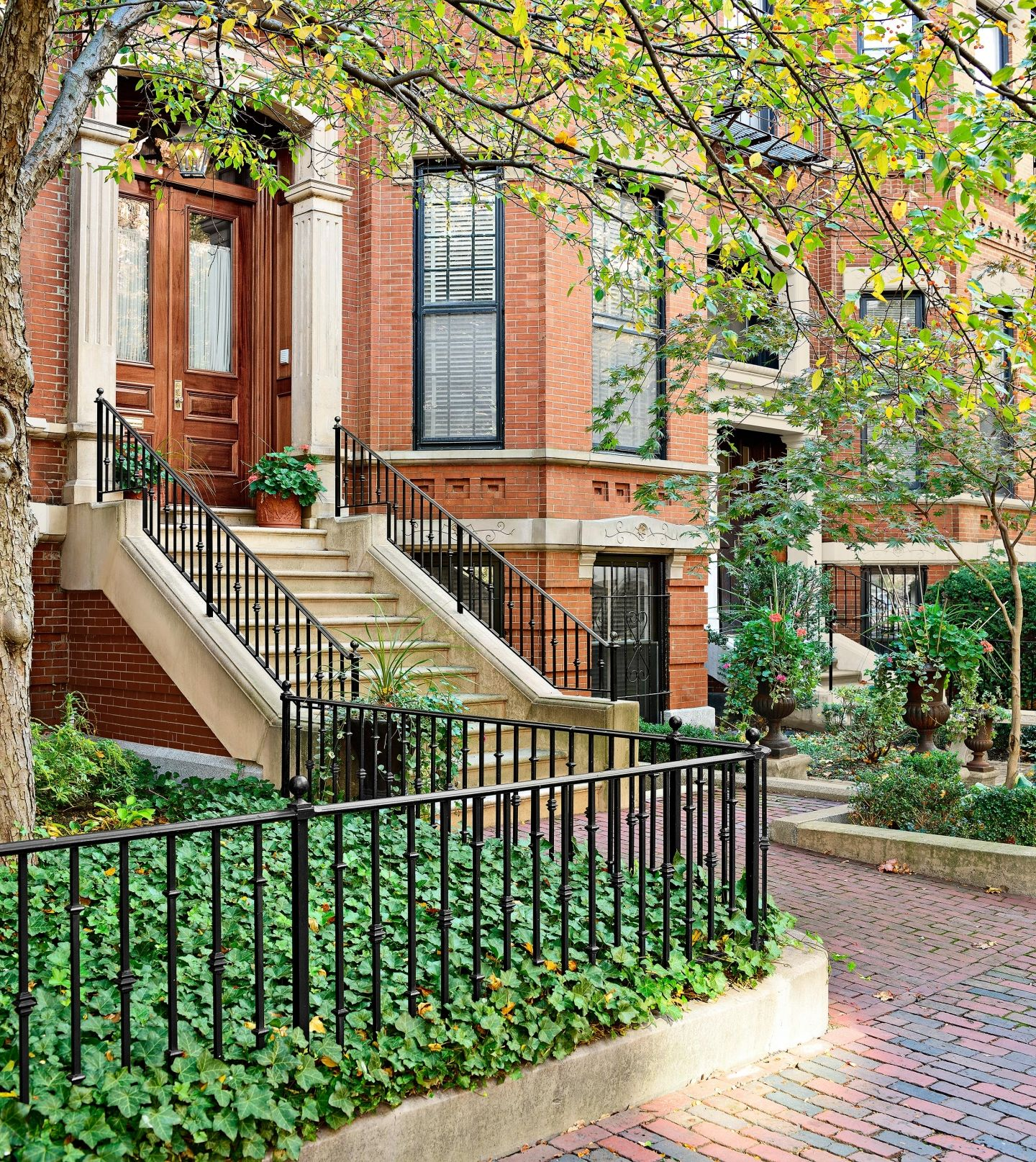 Mimicking wrought iron, steel or weatherproof aluminum are cheaper and more available options to achieve this classic Colonial look.