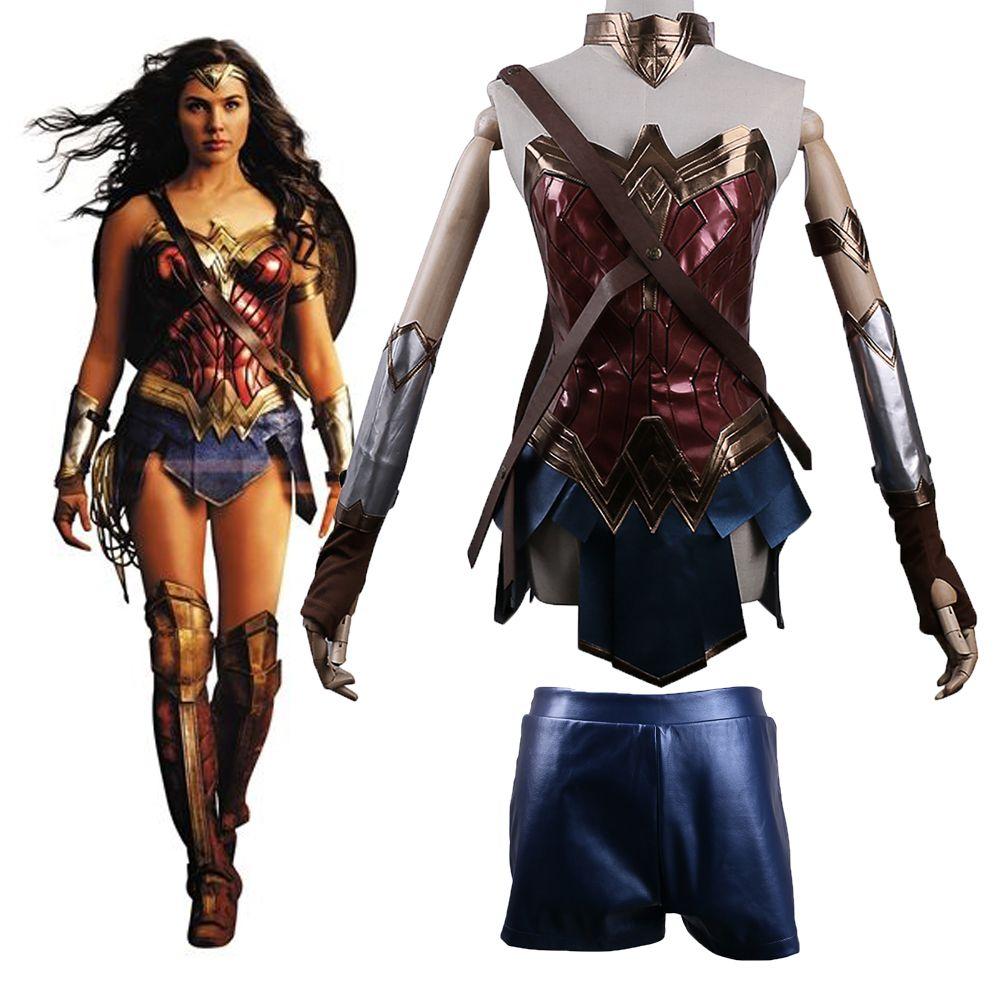 2017 Batman v Superman L aube de Justice League Wonder Woman Cosplay Costume  Femme de Super Héros Diana Prince Halloween dans Costumes de TV   de film  pour ... 83864ff82063