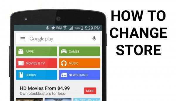 Change Google Play Store Region Country VPN Switch
