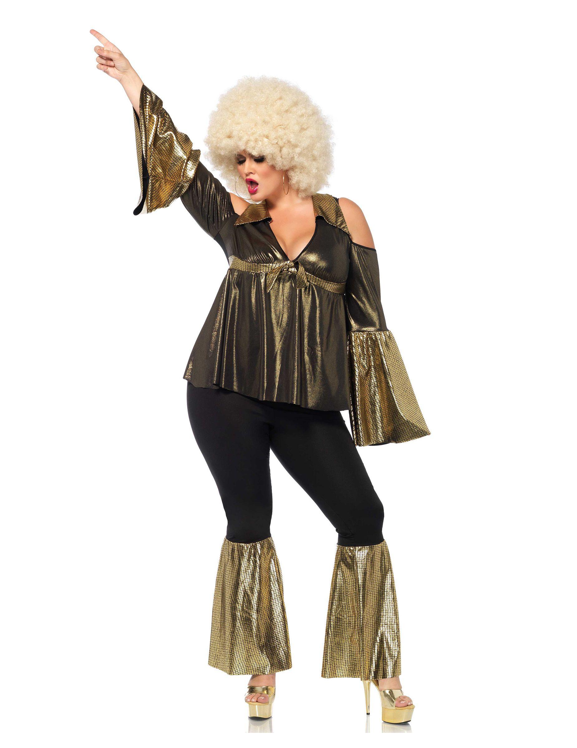 714431bd03 70er-Jahre Disco Plus Size Damenkostüm schwarz-gold , günstige Faschings  Kostüme bei Karneval Megastore, der größte Karneval und Faschings Kostüm-  und ...