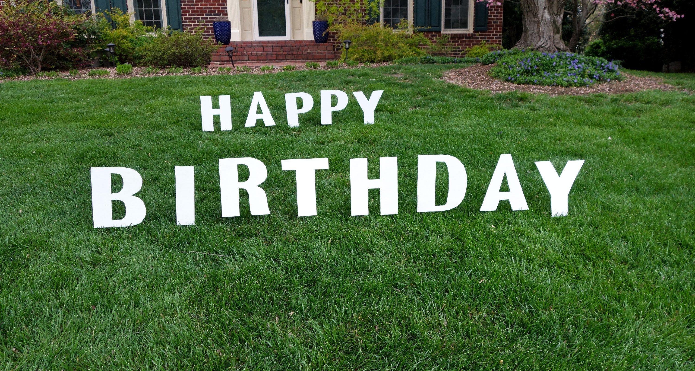 Diy birthday yard signs south lumina style birthday
