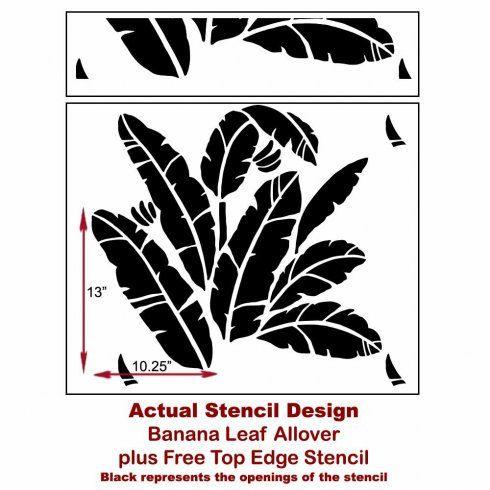 Banana Leaf Allover Stencil