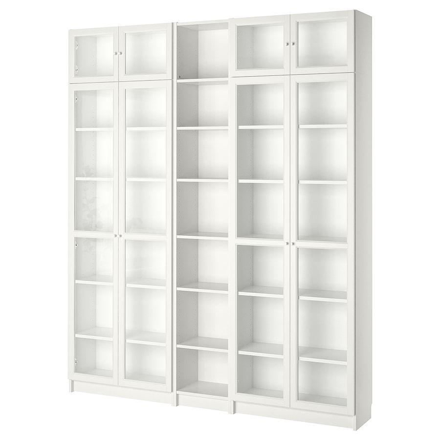 Billy Oxberg Bucherregal Weiss Ikea Deutschland In 2020 Bookcase With Glass Doors White Bookcase Billy Bookcase