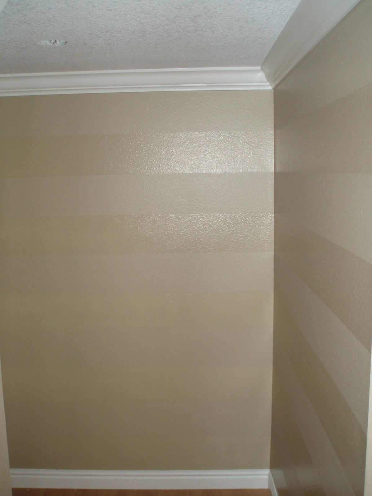 Painting satin design over flat paint easy wall striping - Satin paint on walls ...