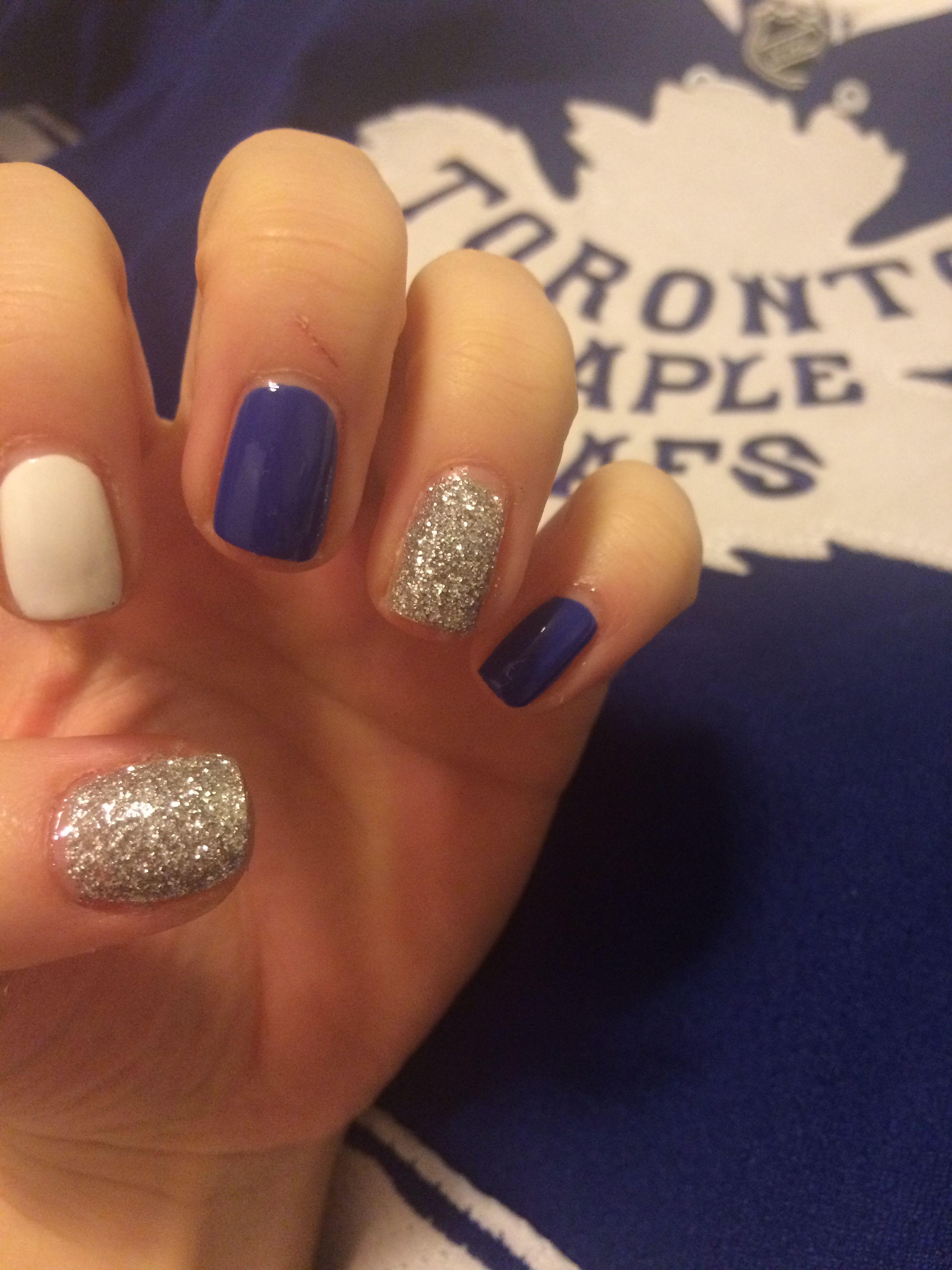 Toronto maple leafs nails nail art go leafs go! | Me Like ...