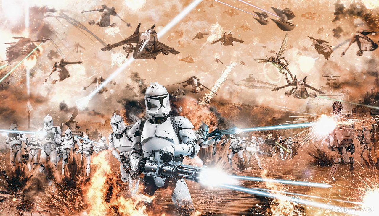 Battle Of Geonosis Frontline By Tdsod Star Wars Episode Ii Battle Of Geonosis Star Wars Episodes