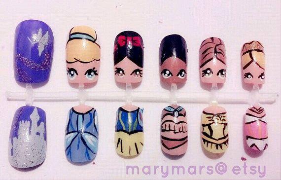 Disney Princess Nail Art By Marymars On Etsy