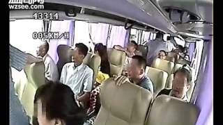 Megahootcom - Holy crap, bus gets hit while backing up on a highway, damn what did they expect