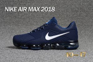 410b036974bede Mens Nike Air Max 2018 Kpu Navy Blue White Running Shoes