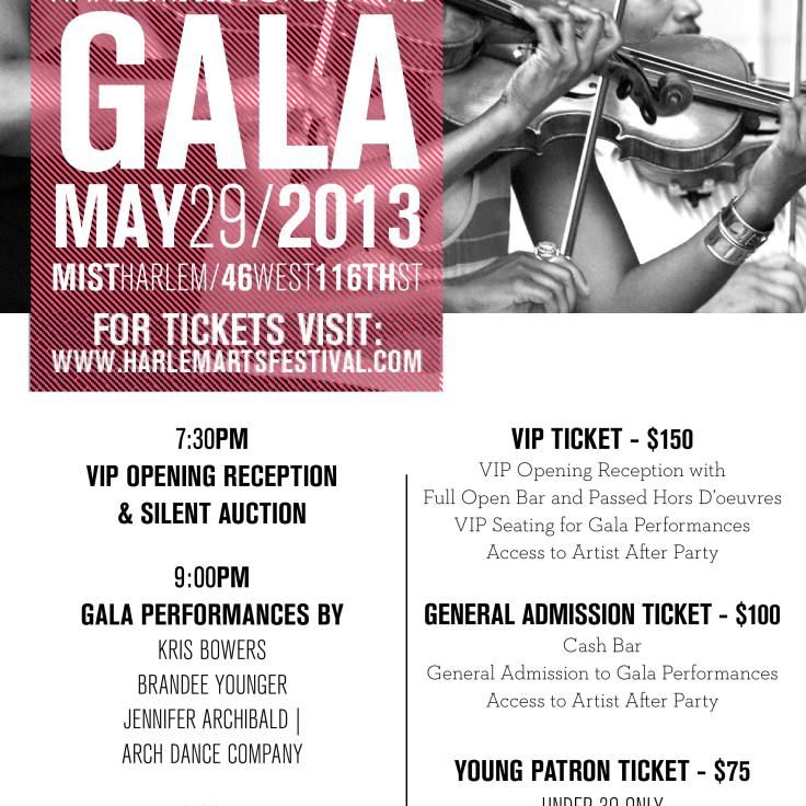 Harlem Arts Festivals Annual Fundraising Gala May Th  RuskS