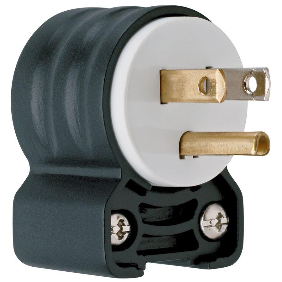 pass seymour legrand 15 amp 125 volt black white 3 wire grounding plug [ 900 x 900 Pixel ]