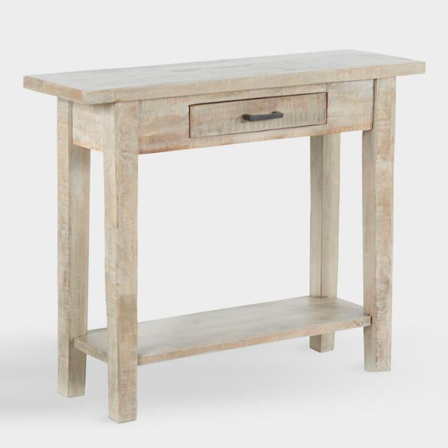 Offering A Drawer And An Open Bottom Shelf Our Console Table Is An Ultra Versatile Surface That S Just White Console Table Small Console Tables Console Table
